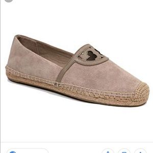 NWT Tory Burch Suede Double T Espadrilles